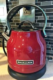 red tea kettle teapot baked teriyaki en electric small retro style electric kettle red