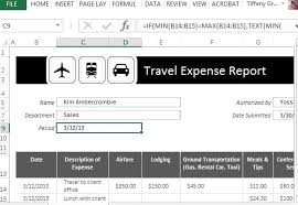 vacation expense calculator traveling expense calculator for excel