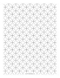 Printable Graph Paper Overlapping Circles