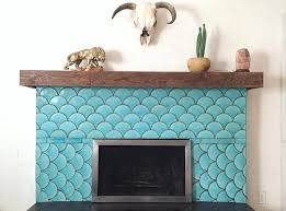 turquoise fish scale tile