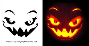 Free Printable Pumpkin Carving Patterns Impressive Remarkable 48 Free Scary Halloween Pumpkin Carving Patterns Stencils