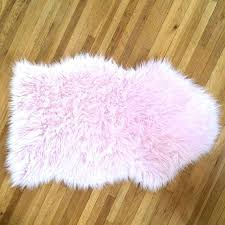 pink faux fur sheepskin rug mint light chair cover or by