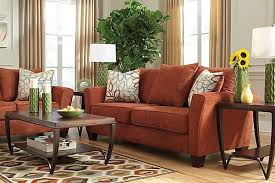 Likable Rust Colored Sofas Couch And Sofa Set