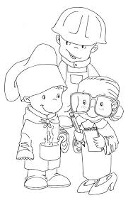 Small Picture Children Dress as Workers in Labor Day Coloring Page Color Luna