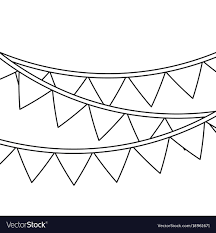 Pendant Banner Garland Pennant Banner Decoration Ornament Vector Image