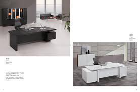 2017 popular modern design veneer finished office executive desk manager table