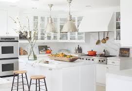 white kitchen. introducing color to modern white kitchen emily henderson