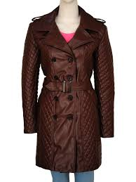 trendy women brown leather coat brown leather coat for women