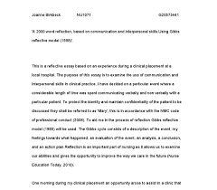gibbs model reflection essay essay on gibbs nursing model on reflection the writepass