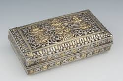 Decorative Metal Boxes With Lids Decorative Arts November 60 Auction 2