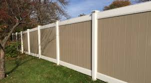 two tone vinyl privacy fence. Plain Privacy Two Tone White Frame Adobe Body Privacy Fence Inside Vinyl N