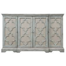 Sophie Weathered Gray Four Door Cabinet Uttermost Cabinets Accent ...