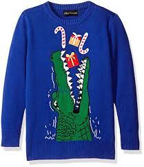alex stevens little boys toddler gator gifts sweater blue bo
