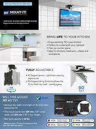 Under Cabinet Tvs Kitchen Amazoncom Mount It Mi 4222 Tv Ceiling Mount Kitchen Under