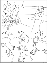 Small Picture Sheets Moses Burning Bush Coloring Page 91 For Coloring Pages Of