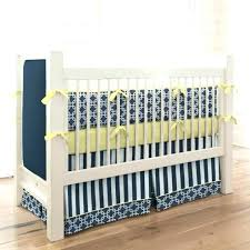 navy blue baby bedding crib skirt 2 and yellow geometric solid set gr