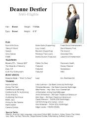 Modeling Resume Template Amazing Model Resume Examples Examples Modeling Resume Template Download By