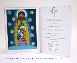Printable Baptism Invitations Amazon Com Holy Family Boy Baptism Invitation Printable