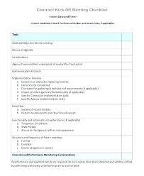 Effective Meeting Agenda Templates Template Lab Checklist