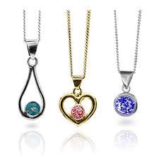 cremation jewellery ash glass design