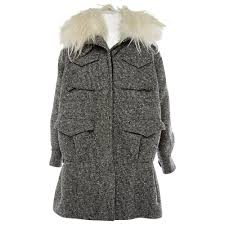Wool Coat Sacai Black Size 2 0 5 In Wool 3281509