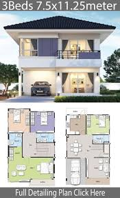 25m Design House Design Plan 7 5x11 25m With 4 Bedrooms Nerys Blog