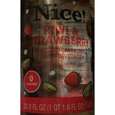 kiwi strawberry flavored sparkling water beverage