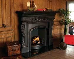 antique cast iron fireplace screen surround vintage paint