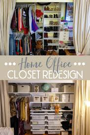 office in a closet. Home Office Closet Redesign In A