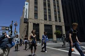 twitter office san francisco. Pedestrians Walk Across 10th And Market Street In Front Of Twitter HQ San  Francisco. Twitter Office San Francisco S