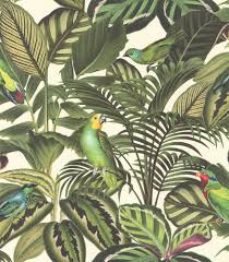 jungle wallpaper.  Wallpaper Albany Parrot Jungle Green Wallpaper Main Image Intended S