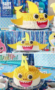 diy baby shark cake topper shark