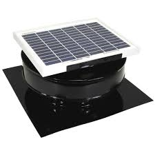active ventilation 365 cfm black powder coated 5 watt solar powered roof mounted exhaust attic
