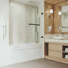frameless neo angle bathtub door with 0 3125