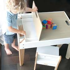 creativity desk and easel this toddler table and chairs in white designed by to be a creativity desk and easel