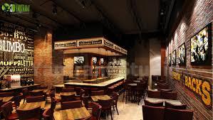 Bar Restaurant Interior Design Modern 3d Bar And Restaurant Interior Design On Behance
