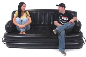 inflatable furniture. Inflatable Sofa With Greg And Dana Sitting On It Furniture L