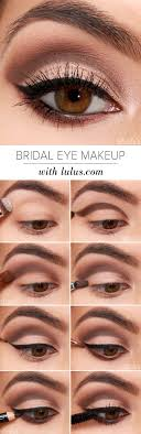 lulus how to bridal eye makeup tutorial