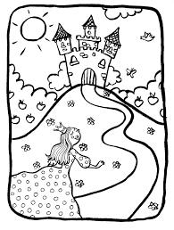 Coloriage Chateau Princesse Disney Dessin Regarding Chateau De