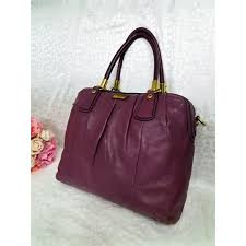 Coach Kristin Leather Bag in Plum 15339 - On Sale, Luxury, Bags   Wallets  on Carousell