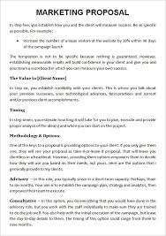 Sample Consulting Proposal Template Nice Marketing Services Proposal
