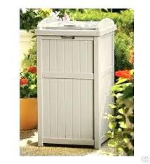 beautiful patio trash can for resin wicker garbage trash can hideaway outdoor patio bin waste cans elegant patio trash can or outdoor