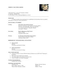 Character Reference Format Resume Resume Template Easy Http