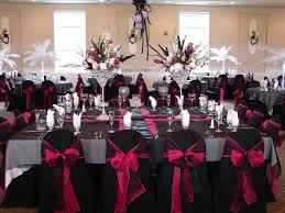 red and silver table decorations. Red Black And White Wedding Decorations Silver Table