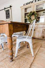 white metal furniture. White Farmhouse Metal Chairs Dining Room Decor By Liz Marie Blog - Furniture