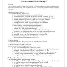 Accounting Job Description Accounting Finance Contemporary 24x24 Templates Financial 10
