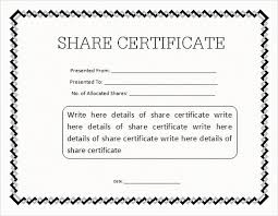Form Of Share Certificate Share Certificate Template Free Download Magdalene Project Org