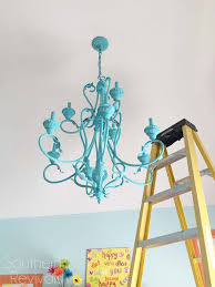 hand painted chandelier