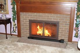 fireplace glass doors with blower stagger contactmpow interiors 14