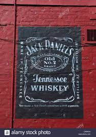 jack daniels advert on outside wall in manchester uk stock photo  jack daniels advert on outside wall in manchester uk